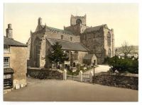 Cartmel Church circa 1908 Photochromatic Image
