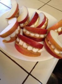 Smiling snack