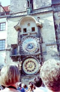The old town square,Praque. The clock