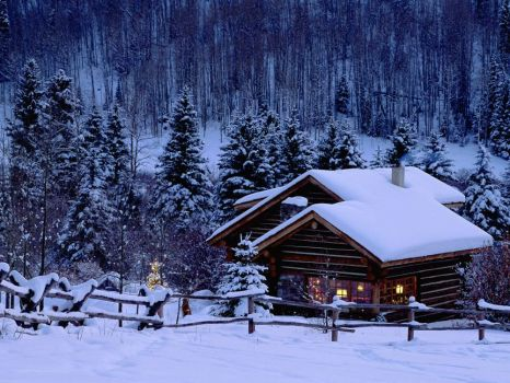 Christmas Log Cabin