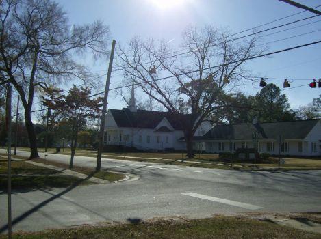 Church accross the street
