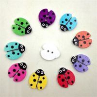 Wooden Ladybug Buttons