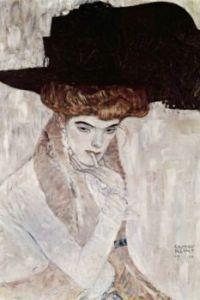 """Black Feather Hat"" By Gustav Klimt, 1910"