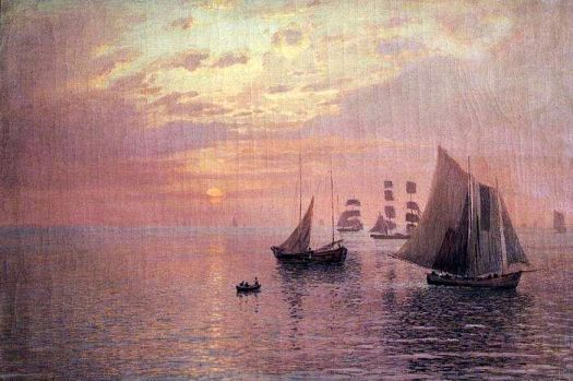 Seascape with sailboats by Nikolay Nikanorovich Dubovskoy