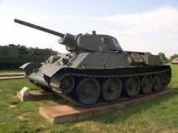 Russian T-34 tank from WWII