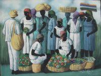 Haitian Market by Raymond Lafaille