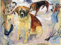 Edvard Munch, In the Kennel (1913-1915)