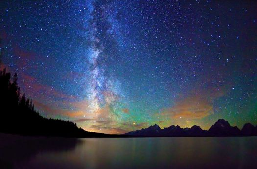 Milky Way over Jackson Lake & Tetons, WY