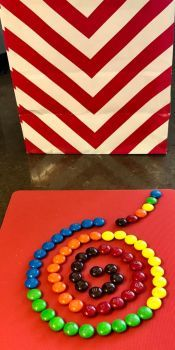 Spiral M&M's and Chevron