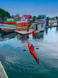 Kayaks in Victoria's Harbour