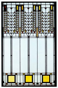 Frank Lloyd Wright Stained Glass circa 1950