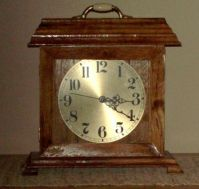Clock made from 125 year old oak from homestead cabin