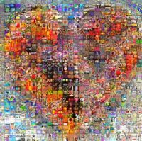 A mosaic of 1,000 hearts