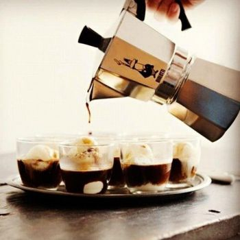 Cuban Coffee with ice cream...What do you think.