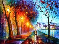 City By the Lake by Leonid Afremov (Difficult)