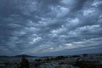 Stormy sky over San Francisco