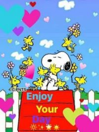 Snoopy and Woodstock...Enjoy your day puzzle...xx