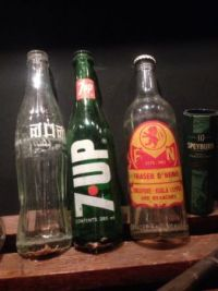 Bottles from days gone by...