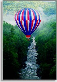 Theme: Summer - Ballooning Over Quechee Gorge, Vermont