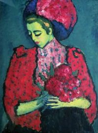 1909  Alexej von Jawlensky  Young Girl with Peonies