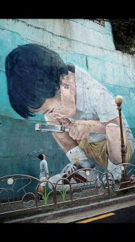 microscope street art