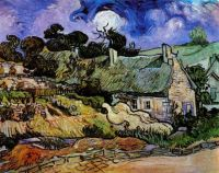Vincent van Gogh--Houses with Thatched Roofs, Cordeville, 1890