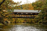 COVERED BRIDGE IN MOHIGAN FORREST STATE PARK LOUDONVILLE OHIO