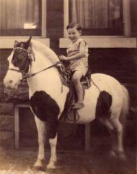 1942 - My dad on a pony, Toronto