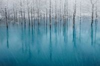 """Blue Pond & First Snow"" - (© Kent Shiraishi)"