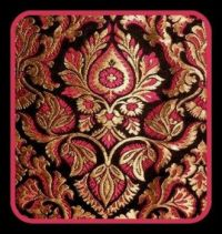 Pinknblackngold Brocade