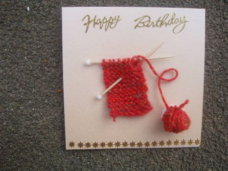 knitting card