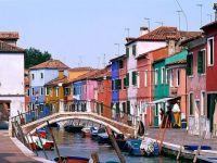 The other side of the canal in Venice.