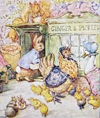 "illustration from ""The Tale pf Ginger and Pickles"" by Beatrix Potter"