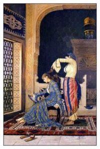 Osman Hamdi Bey (Turkish, 1842–1910), Girl Having Her Hair Combed
