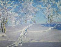 Gustaf Fjaestad, Winter Landscape