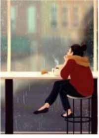 Drinking Coffee On A Rainy Day