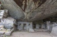 The Incan Cave Temple of the Moon near Machu Picchu in Peru