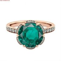Hoogste-kwaliteit-2014K-Rose Gold-20ct Emerald-Ring-diamants