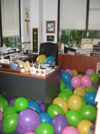 Don't tell office manager you don't want a birthday party