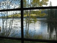Looking out cabin window
