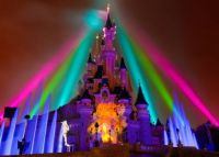 Disney Castle Lighting