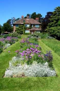 George Bernard Shaw's Garden in Bloom, Ayot st Lawrence, Hertfordshire.  Photo by David Lally