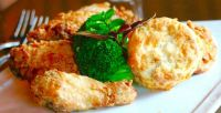 Fried Jidory chicken, buttermilk biscuit