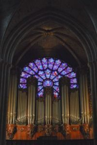 One of the great rose windows of Notre-Dame de Paris