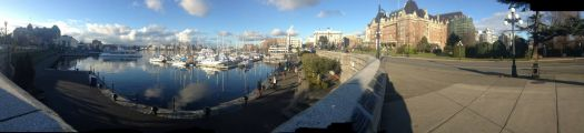 I just took this panorama of the inner harbour with my iPhone