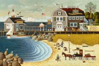 Clammers at Hodges Horn by Charles Wysocki