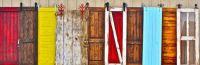 Colorful Barn Doors