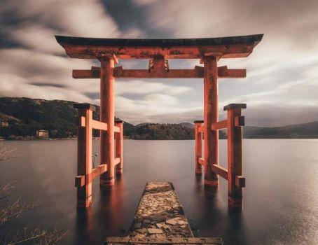 Beyond this gate God resides, Hakone, Japan