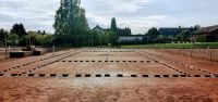 Heavy tennis court lines