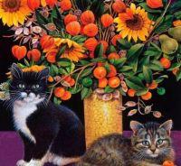 Chatons et fleurs